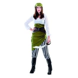Disfraz de Pirata verde para Mujer