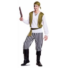 Disfraz de Pirata verde para Hombre