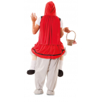 Disfraz de Up! Lobo y campesina roja Talla ML para Adulto