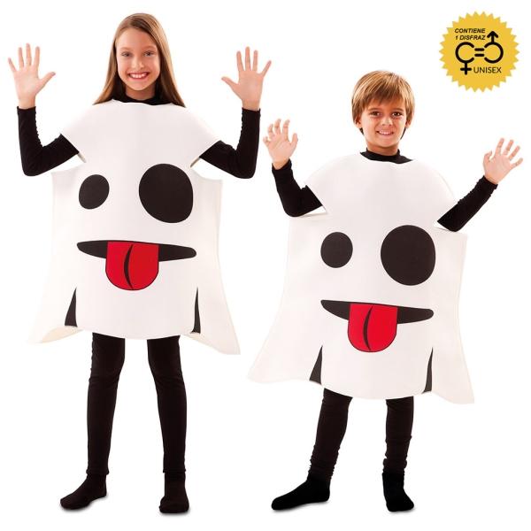 Disfraz de Emoticono Fantasma 7 a 9 años para infantil