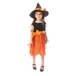 Disfraz de Brujita naranja para bebé y niña