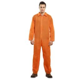 Disfraz de Prisionero naranja para Adulto