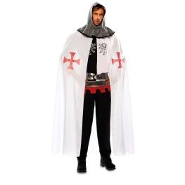 Capa Medieval blanco para adulto