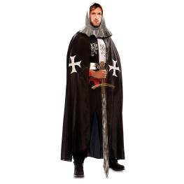 Capa medieval negra para Adulto
