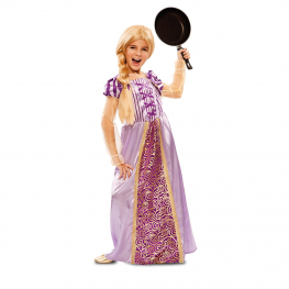 Disfraz de Princesa lila para niña