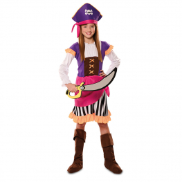 Disfraz de Pirata Aventurera para niña