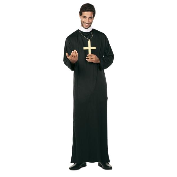Disfraz de Cura para Hombre Talla XL