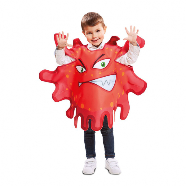 Disfraz de Bacteria Roja 3 a 4 años para infantil