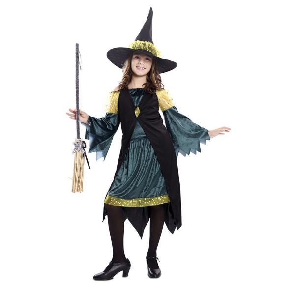 Disfraz de Bruja Verde 5 a 6 años para niña