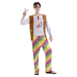 Disfraz de Hippie Arcoiris para adulto