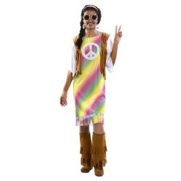 Disfraz de Hippie Arcoiris Mujer