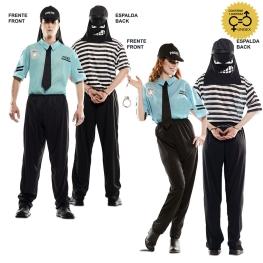 Disfraz de Double Fun! Policía-Ladrón para adulto