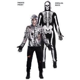 Disfraz de Double Fun! Zombie-Esqueleto para Adulto