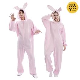 Disfraz de Conejo Rosa para adulto