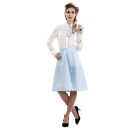 Pin-Up Set Azul T-Ml (Falda, Corbata)
