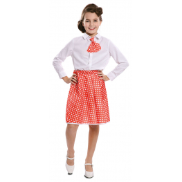 Pin-Up Set Rojo Infantil T-0 (Falda, Corbata)