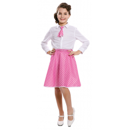 Pin-Up Set Rosa Infantil T-2 (Falda, Corbata)
