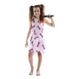 Disfraz de Cavernicola Blanca para niña