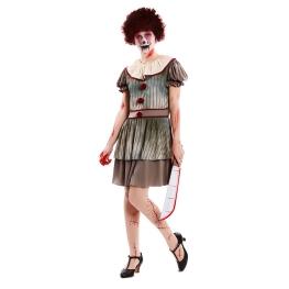 Disfraz de Payasa Diabolica para mujer