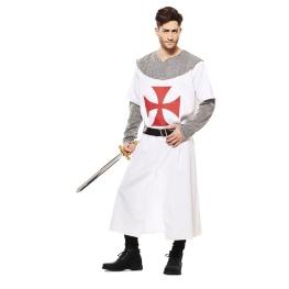 Disfraz de Cruzado Medieval Blanco para hombre