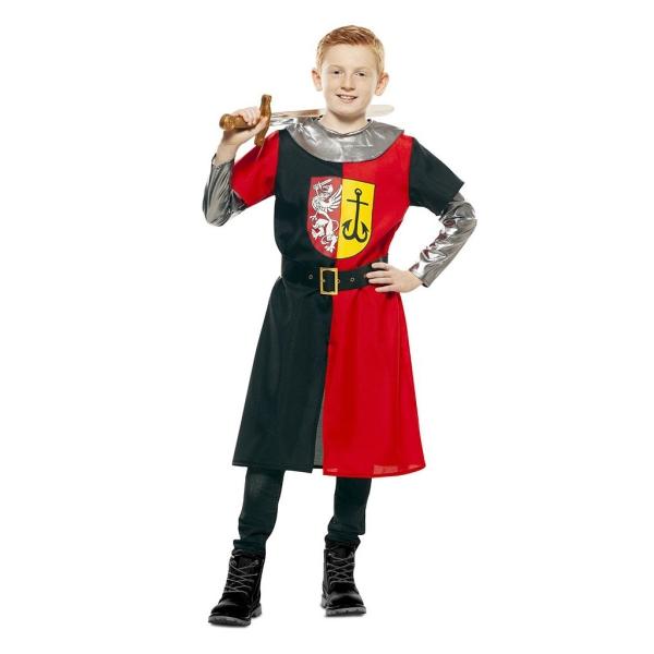 Cruzado Medieval Rojo Y Negro 3 a 4 años para niño