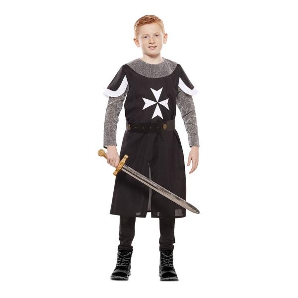 Cruzado Medieval Negro 3 a 4 años para niño