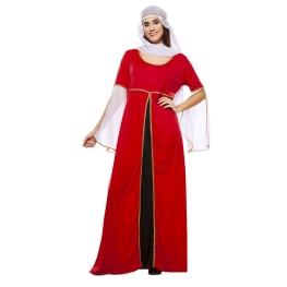 Disfraz de Dama Medieval Roja