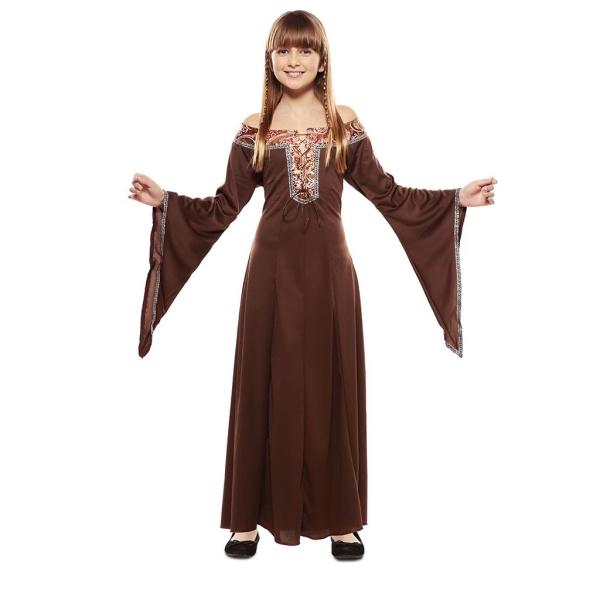 Dama Medieval Marron 5 a 6 años para niña