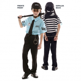 Disfraz de Double Fun Policía-Ladrón Infantil