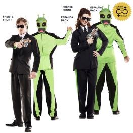 Disfraz de Double Fun! Traje Negro-Alien para adulto