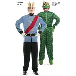Disfraz de Double Fun! Principe-Rana para Adulto