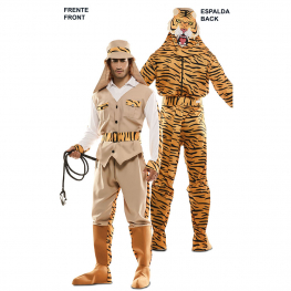 Disfraz de Double Fun! Cazador-Tigre para Adulto
