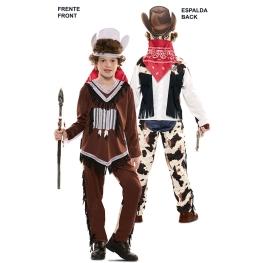 Disfraz de Double Fun! Indio-Vaquero