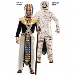 Disfraz de Double Fun! Egipcio-Momia para Adulto