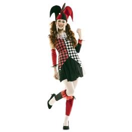Disfraz de Arlequina Roja Mujer