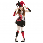 Disfraz de  Arlequina Roja Mujer T-Ml