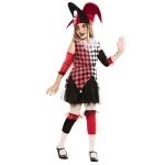 Disfraz de  Arlequina Roja Niña T-0