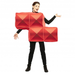 Disfraz de Tetris rojo para adulto