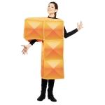 Disfraz de Tetris naranja para adulto