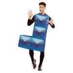 Disfraz de Tetris azul para adulto