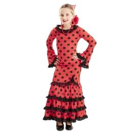 Disfraz de Flamenca Roja niña