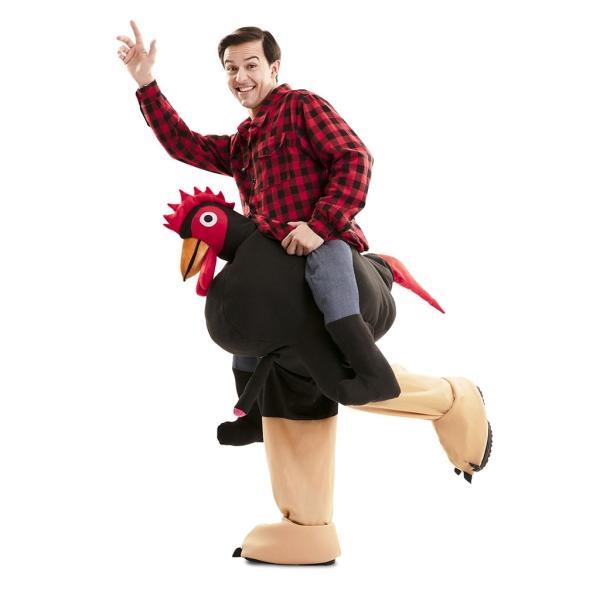Disfraz de Up! Gallo Exhibicionista T-Ml para Adultos
