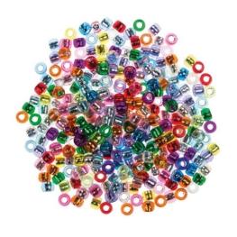 Cuentas metalizadas colores surtidos 600 unidades
