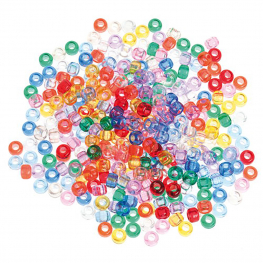 Cuentas translúcidas colores surtidos 600 unidades