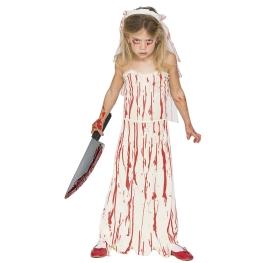 Disfraz de Novia sangrienta para niña