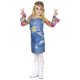 Disfraz de Hippie vaquera para niña